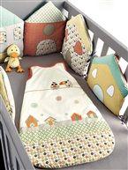 Protector de cuna modulable 'Péli-patch' bebé niño - verde oscuro bicolor/multicolo