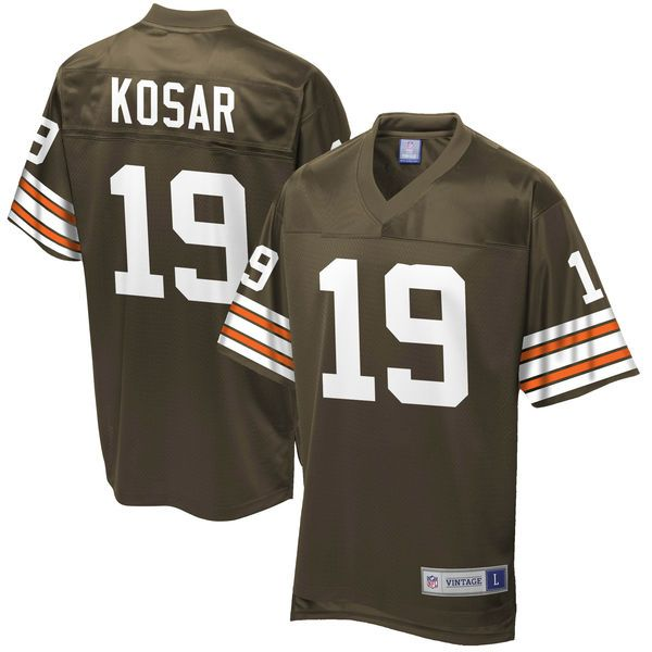 reputable site 1e433 a1a86 ... Bernie Kosar Cleveland Browns NFL Pro Line Retired Player Jersey - Brown  - 99.99 Mens Nike Cleveland Browns 19 ...