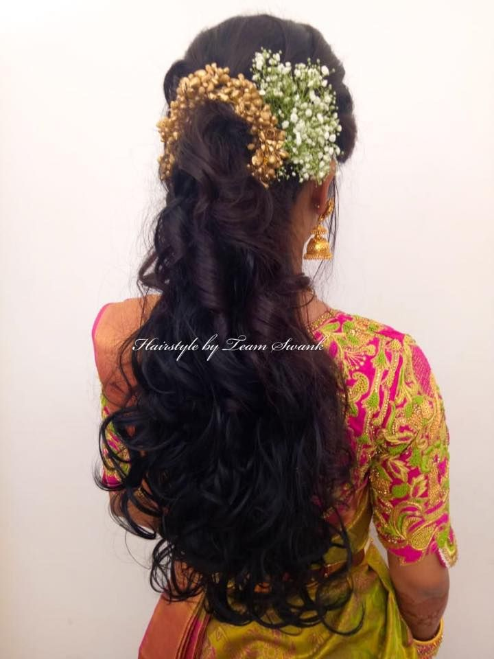 South Indian Bridal Reception Hairstyle By Team Swank
