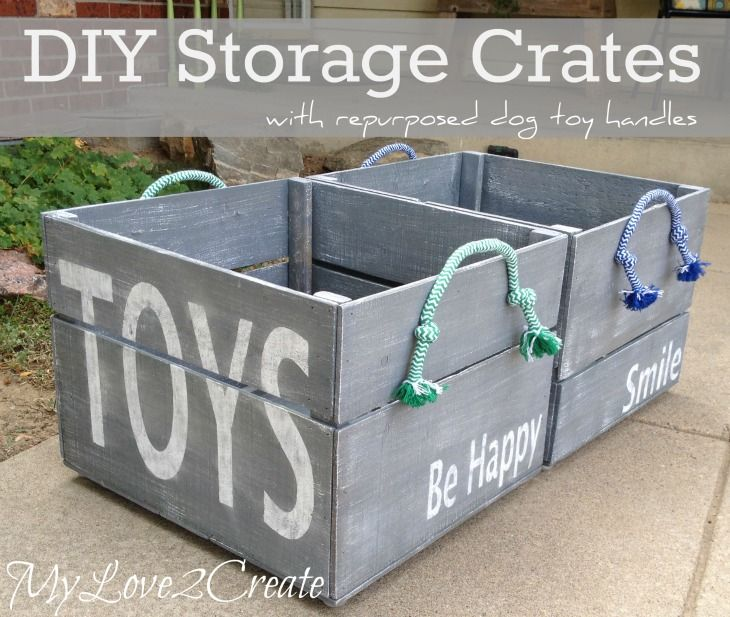Reclaimed Wood Into Large Storage Crates