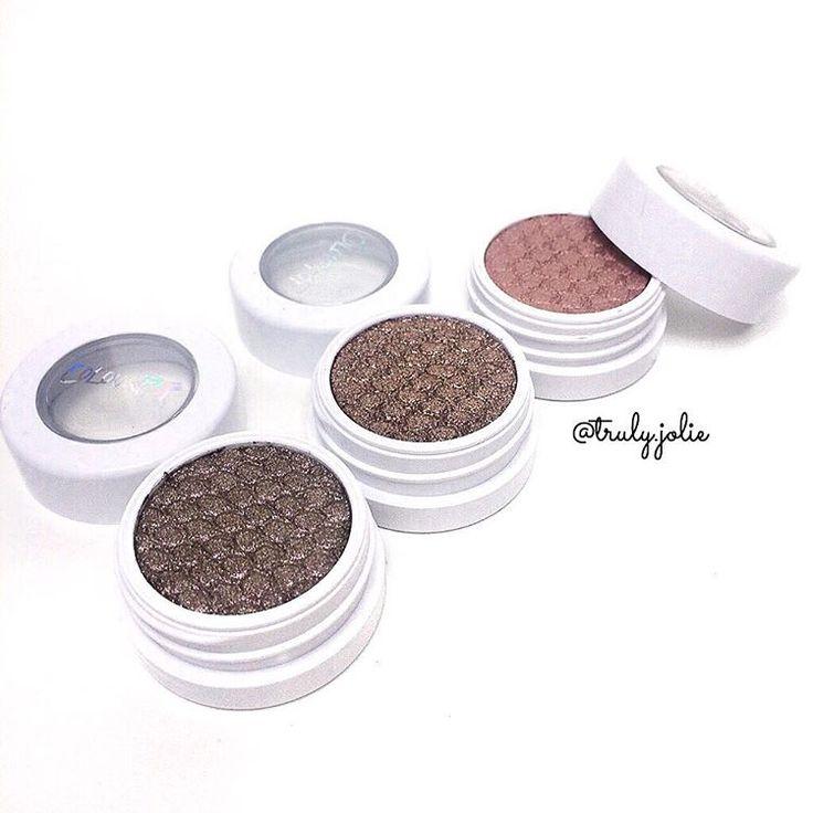 beautiful metallic eyeshadows from @colourpopcosmetics 💕✨ So Quiche • Nillionaire • La La