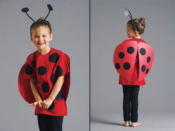ladybug crafts | Take a look at a larger image of the finished ladybug costume.