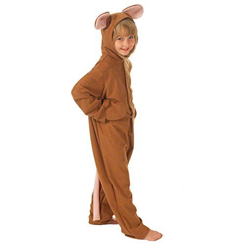 Bristol Novelty Childs Brown Mouse Jumpsuit - Small (98cm)