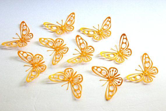 3d Wall Butterflies, 3d butterfly wall art, butterfly wall decor ...
