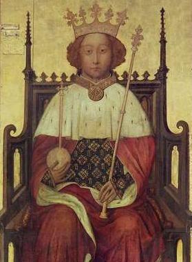 Portrait of Richard II of England, mid-1390s.