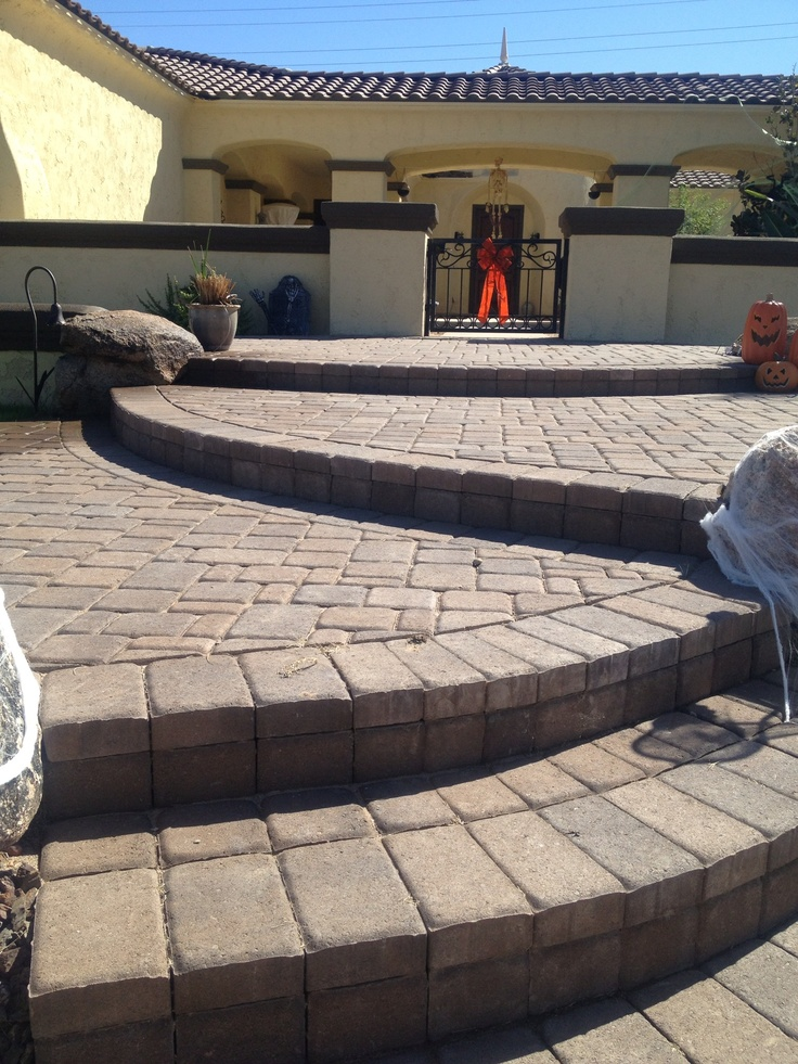 30 Best Paver Steps Images On Pinterest Concrete Front