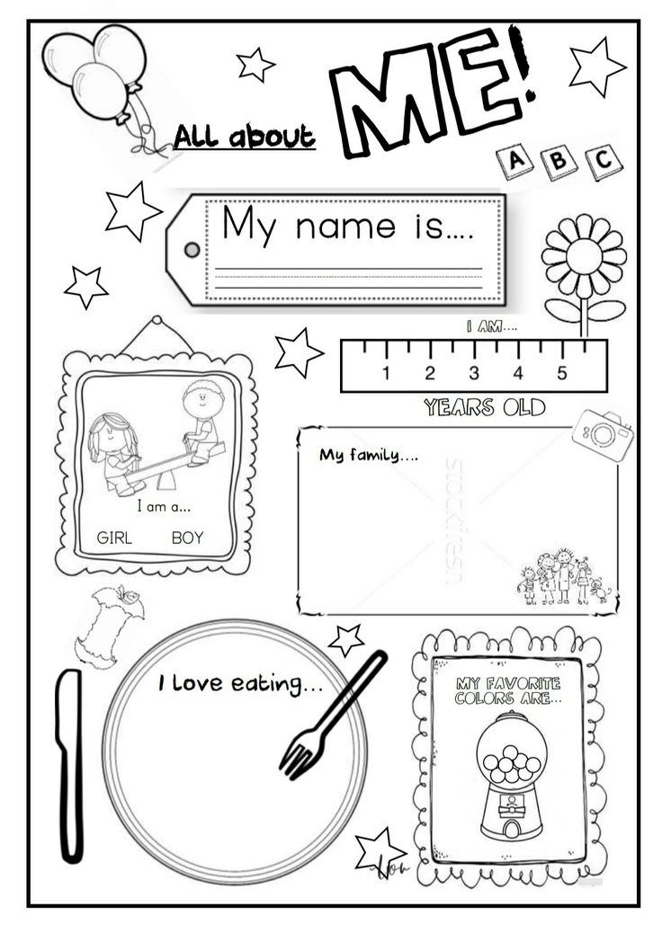Back to school pack. Abc numbers 110 all about me English