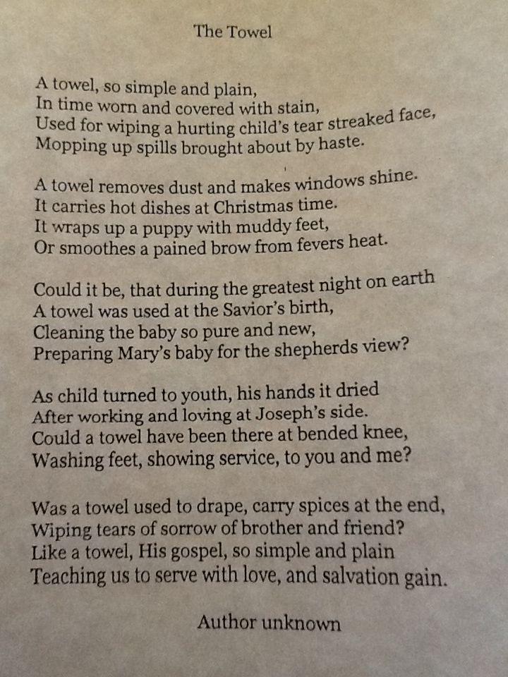 Towel Gift Poem Christmas Poems Neighbor Christmas