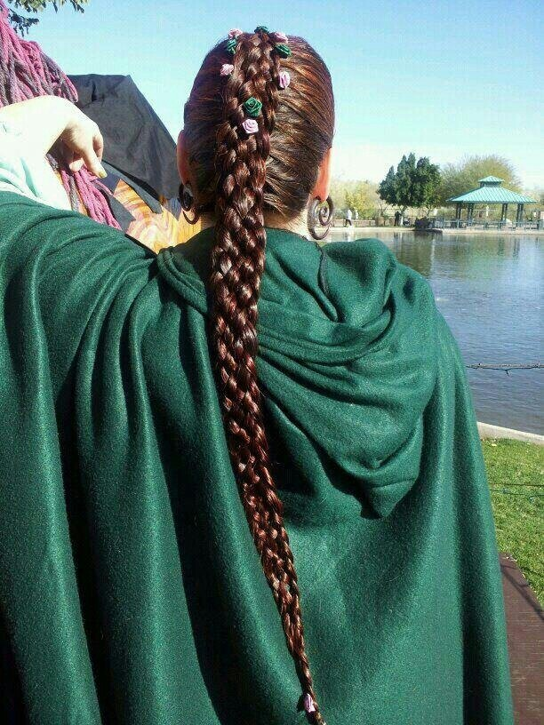 nine strand braid glorious hair