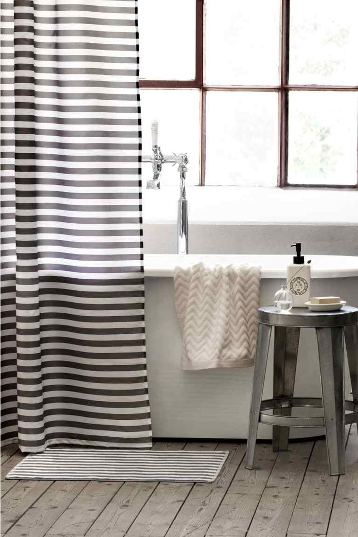 M s de 25 ideas incre bles sobre cortinas de ba o de rayas - Cortinas para ducha ...