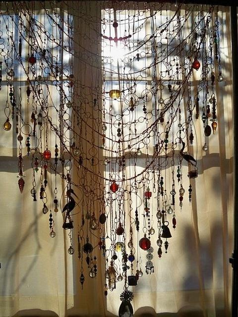 trinket curtain by ZoeDuJour, via Flickr -