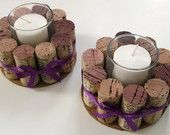 wine cork votives