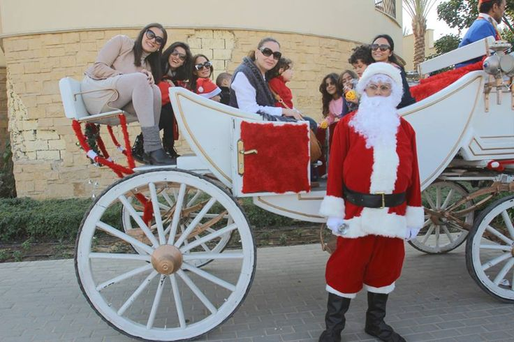 Did you get to ride in Santa's Carriage? #emaarmisr #christmas #uptowncairo
