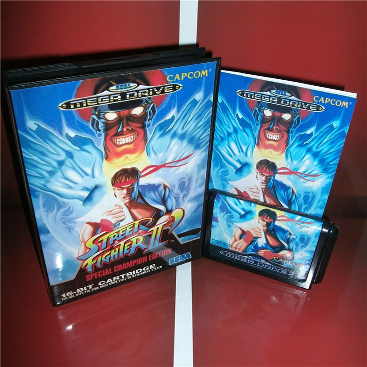 >> Click to Buy << Street Fighter 2 EU Cover with box and manual for Sega MegaDrive Genesis Video Game Console 16 bit MD card #Affiliate