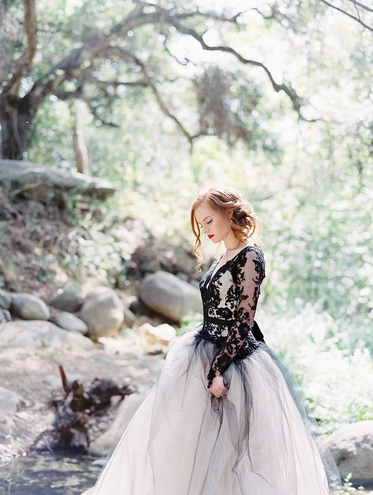 Photography: Luna de Mare Photography - http://www.stylemepretty.com/portfolio/luna-de-mare   Read More on SMP: http://www.stylemepretty.com/2015/10/30/edgy-black-lace-wedding-inspiration/
