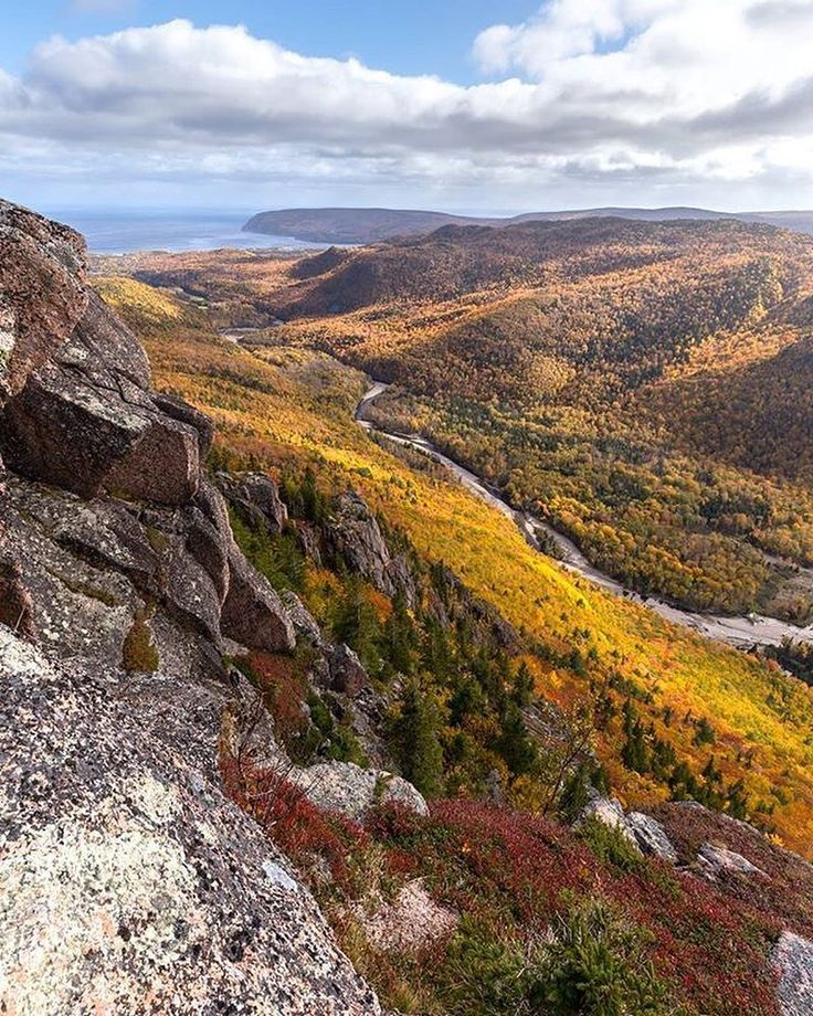 "Nova Scotia (@visitnovascotia): ""One of our most challenging hikes boasts rewarding view. This is Franey Trail in Cape Breton…"""