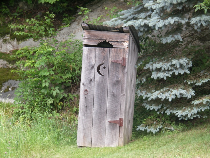 Okay, so I'm going to build an outhouse. But it's not going to be a potty. It's going to be a secret portal to an underground playhouse with batting cages,  a trampoline, and a ball pit!