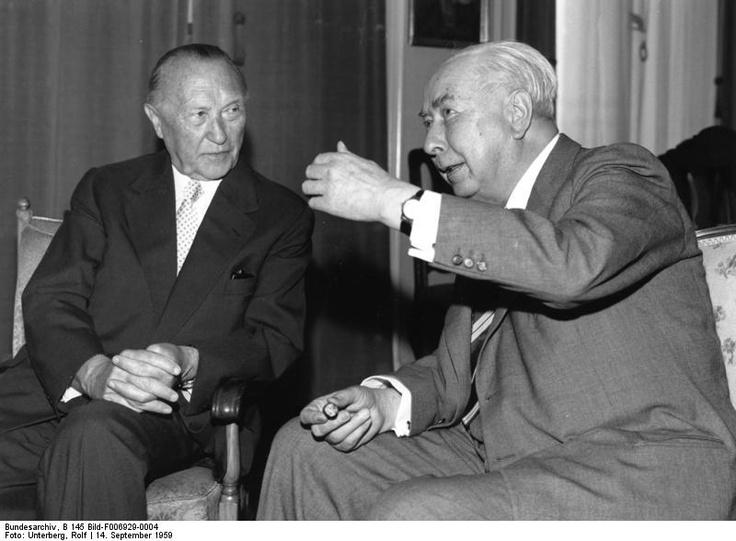 Chancellor Adenauer, Theodor Heuss ~ Bundeskanzler Adenauer mit Theodor Heuss