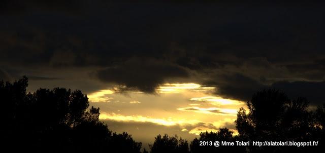 Coucher de Soleil le 19 Janvier 2013...