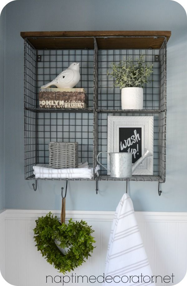 Try This A High Style Half Bath Makeover Bathroom Shelves