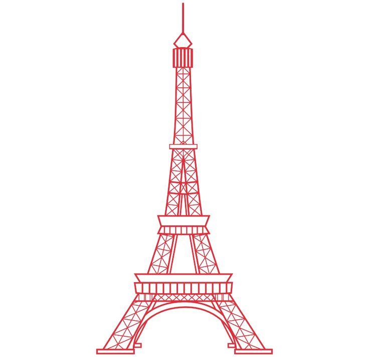 Torre Eiffel 2, vinilos decorativos