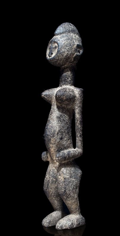 A Bamana sculpture with a thick sacrification patina from the village Sonango, 125 km from Segou