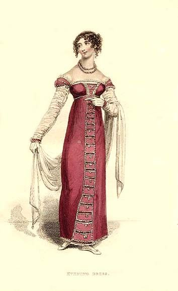 Evening dress - Published in La Belle Assemblée, 1814