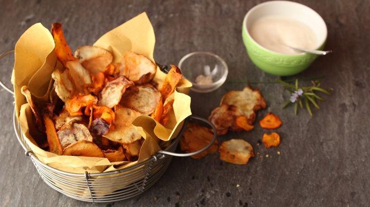 Chips di verdure al forno