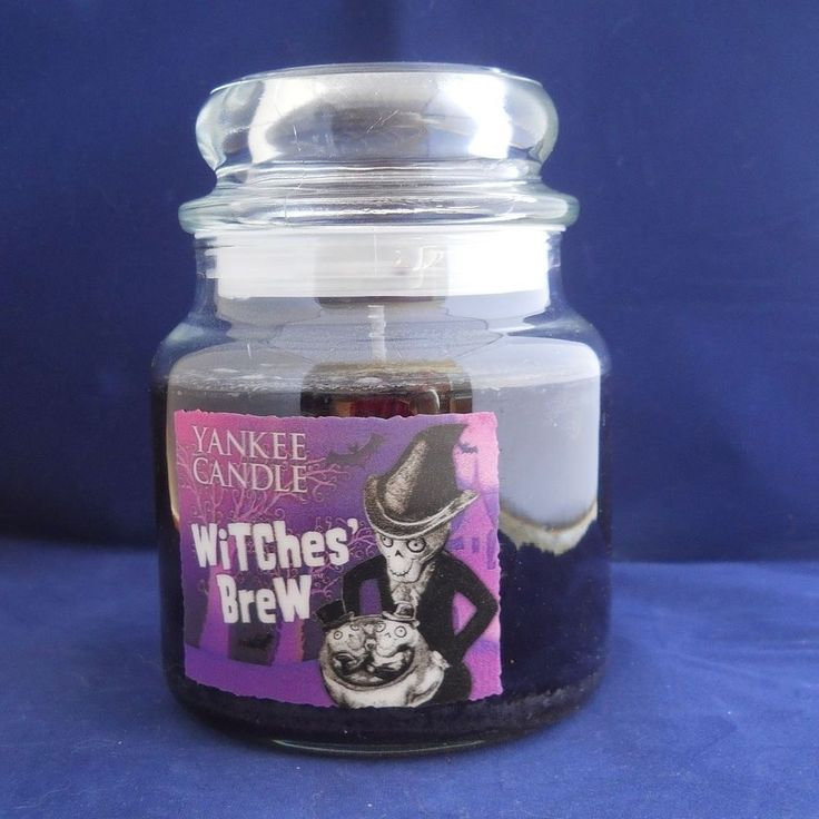 Yankee Candle Halloween Witches Brew Boney Bunch Hologram Candle Rare 12.5 HTF…