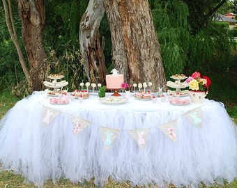 Custom Tutu Table Skirt Candy Buffet Skirt by BaileyHadaParty