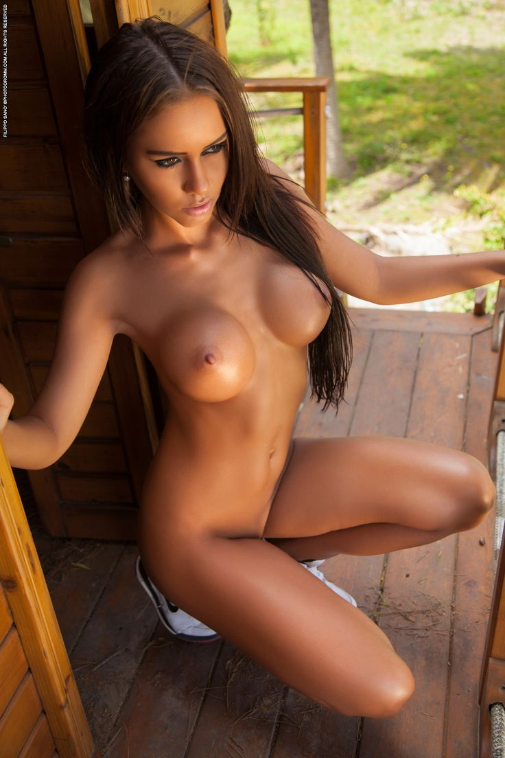 Naked women in treehouses