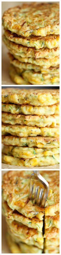 Zucchini Corn Pancakes #zucchini #pancakes #healthy