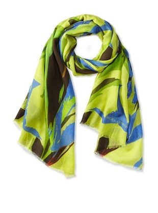 Micky London Women's Cashmere Electric Zoo Scarf, Multi