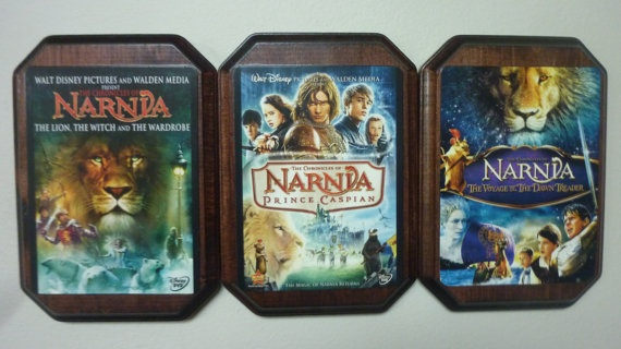 The Chronicles of Narnia, The Lion, the Witch, and the Wardrobe, Prince Caspian, and Voyage of the Dawn Treader.