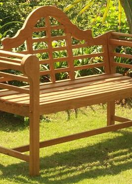 All Natural Teak Lutyens Bench