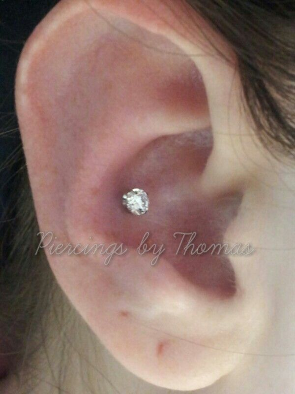Neometal 4mm cz Conch piercing | Piercings By Thomas ...