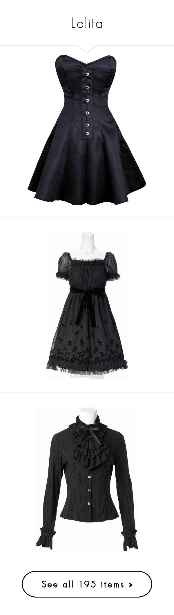 """""""Lolita"""" by shulabond on Polyvore featuring dresses, corsets, gothic dresses, goth corset, long dresses, plus size dresses, long gothic dress, lolita, black and moi meme moitie"""