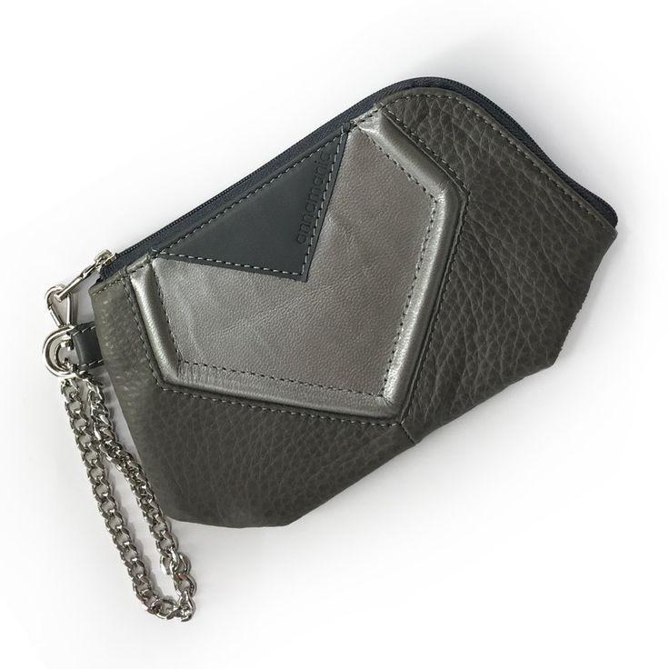 Image of GEOMETRY | szürke ezüst pénztárca