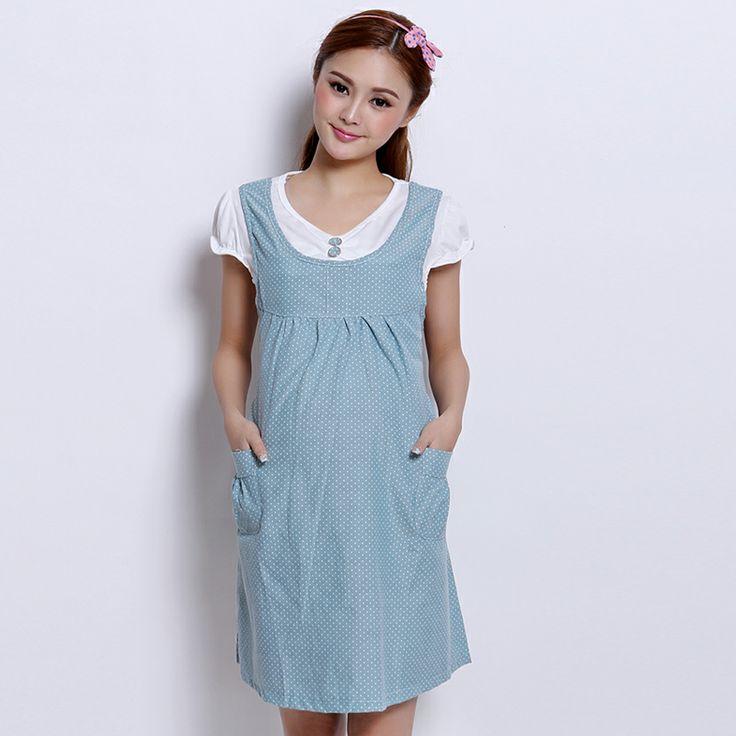 Материнство летнее платье летняя мода 2014 новый большой размер корейский беременных женщин платье корейских женщин одеваться - Taobao