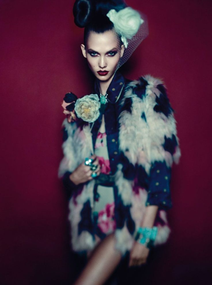 Day Dream – December cover girl Karlie Kloss takes on eastern inspired fashion for this dreamy story in Vogue Germany. Captured by Alexi Lubomirski, Karlie is an alluring vision in the designs of Chanel, Gucci, Chloé, Roberto Cavalli and others. Dripping in gems and floral accessories, the American beauty shows off a more mature side …