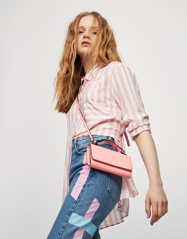 Pull&Bear - woman - new - mini bag with handle - pink - 14725214-V2017