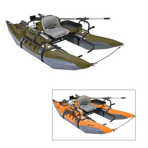 Classic Accessories Colorado XT Pontoon Boat, Pumpkin/Gray