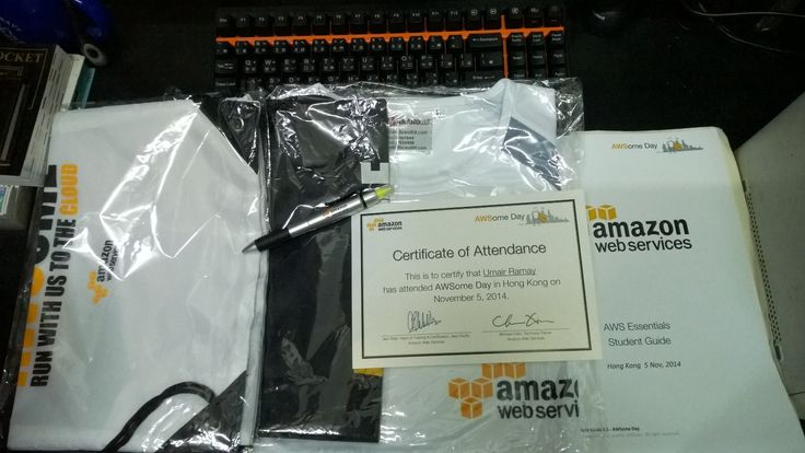Amazon Give Me This and a Certificate of AWS Essentials Cloud Computing Course  #AWSomeDay