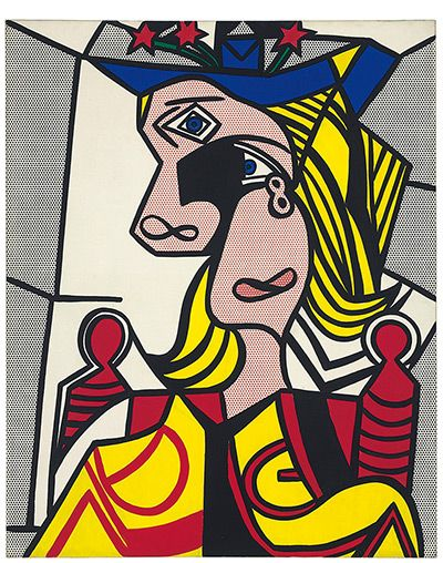 Credit: Christie's Roy Lichtenstein, Woman with Flowered Hat, magna on canvas, painted in 1963. Sold at $56.1m (£37m) Christie's top 10 lots – in pictures