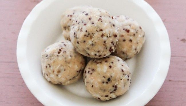 These delicious cookie bites are packed full of protein and make the perfect lunch box or after school snack.