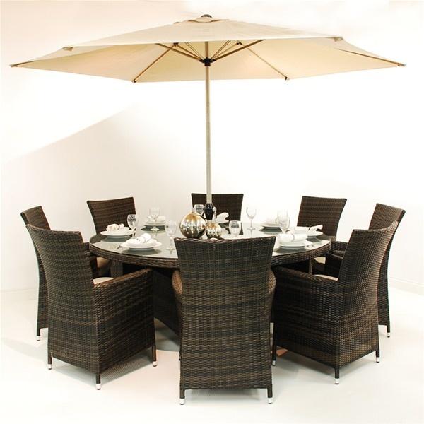 Maze Rattan LA 8 Seat Round Rattan Garden Furniture Set. 25  beautiful Rattan garden furniture ideas on Pinterest   Rattan