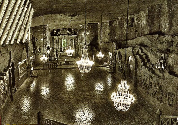 Wieliczka salt mine, on the outskirts of Krakow. An underground city carved from salt