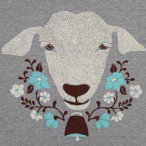 Goat shirt. Want. Cute shirts at gnomeenterprises.net