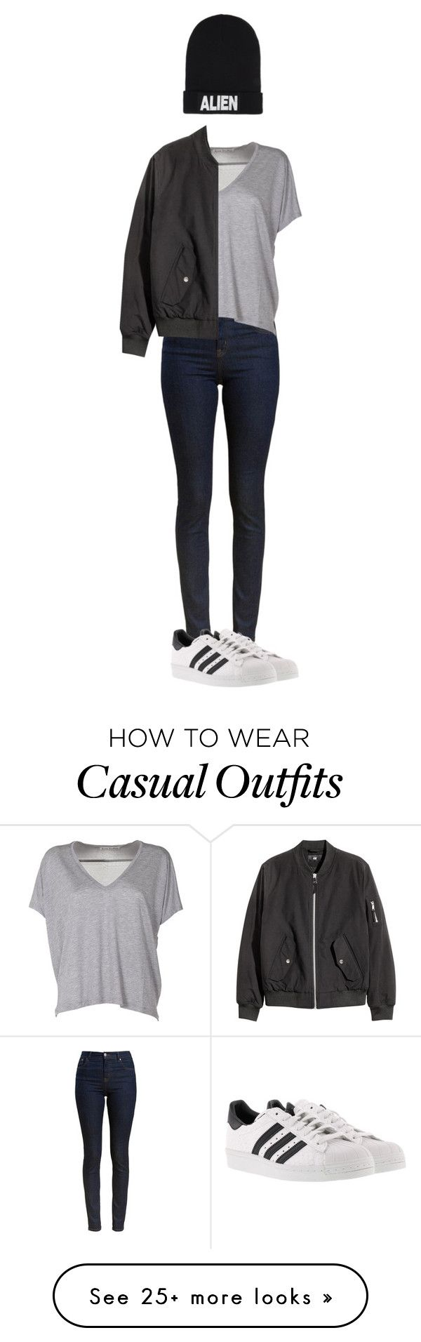 """street casual -Kang allyn fanboy"" by kangallynfanboy on Polyvore featuring Barbour, Acne Studios, adidas and Nicopanda"