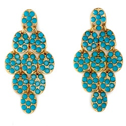 teal chandelier earrings